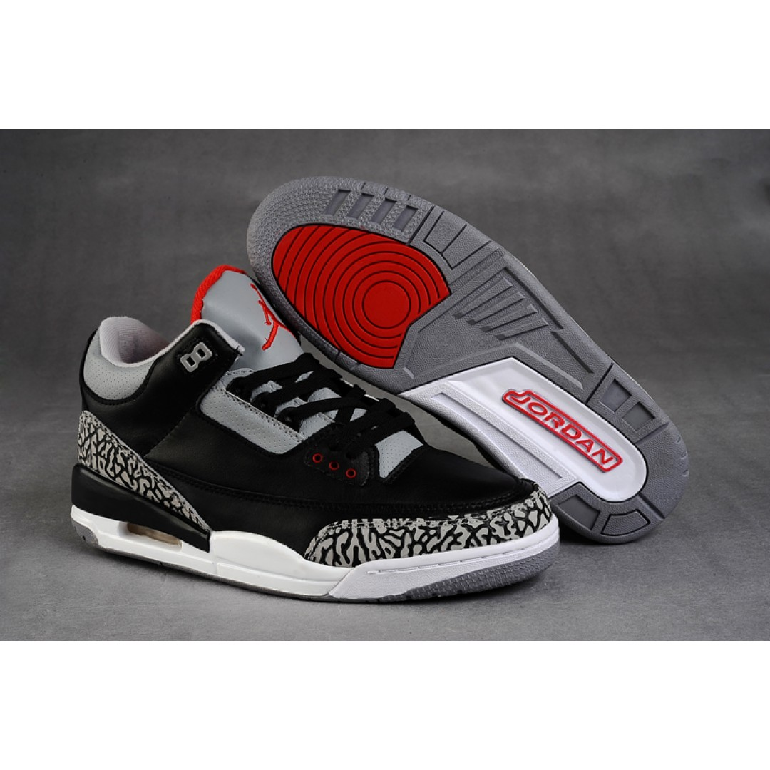 Women Air Jordan 3 Retro Black Cement Grey